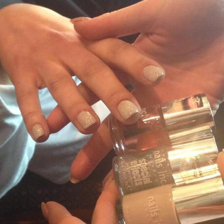 glitter nails at matthew williamson london fashion week show - aw14 nail trends - nails inc nail trends - handbag.com