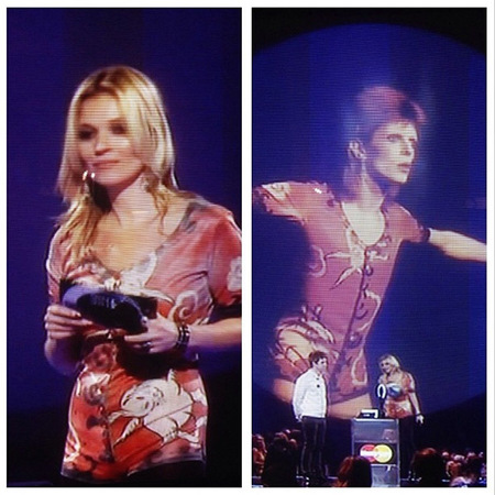 kate moss - david bowie - brits - brit awards - handbag.com