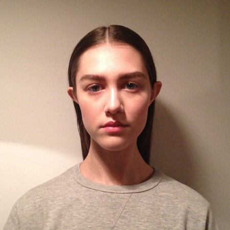 London fashion week hair trends - whistles - 90s - minimalism - straight - behind ears -  handbag.com