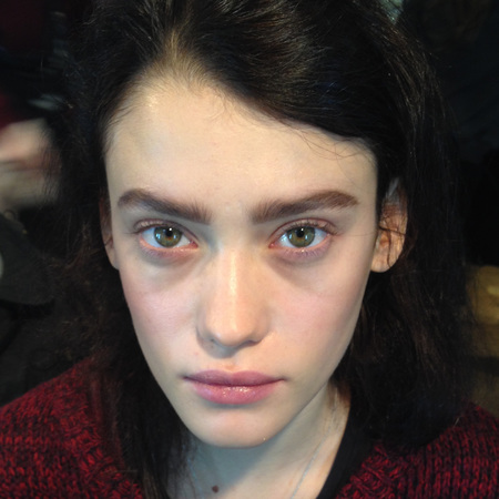 loreal makeup - lfw - no mascara - whistles - brows - handbag.com