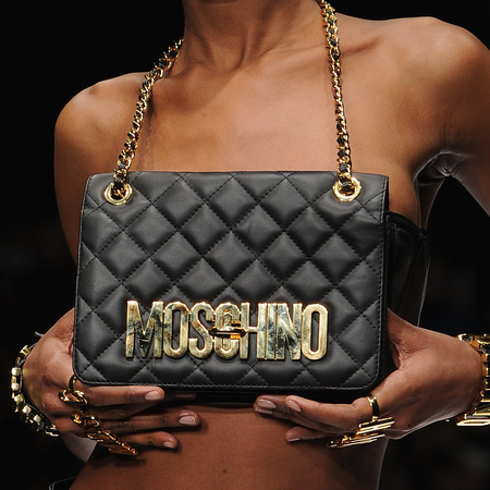 moschino quillted leather handbag - milan fashion week autumn winter 2014 - jeremy scott designer - handbag.com