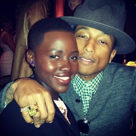 pharrells hat - lupita nyongo instagram - twitter - handbag.com