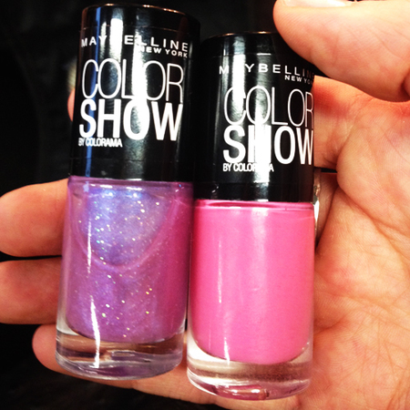 pink purple maybelline nail polish used at ashish london fashion week autumn winter 2014 - nail trends - handbag.com