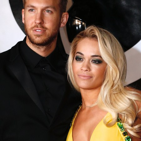 rita ora yellow dress - calvin harris - brits 2014 red carpet - smoky eyes makeup trend - handbag.com