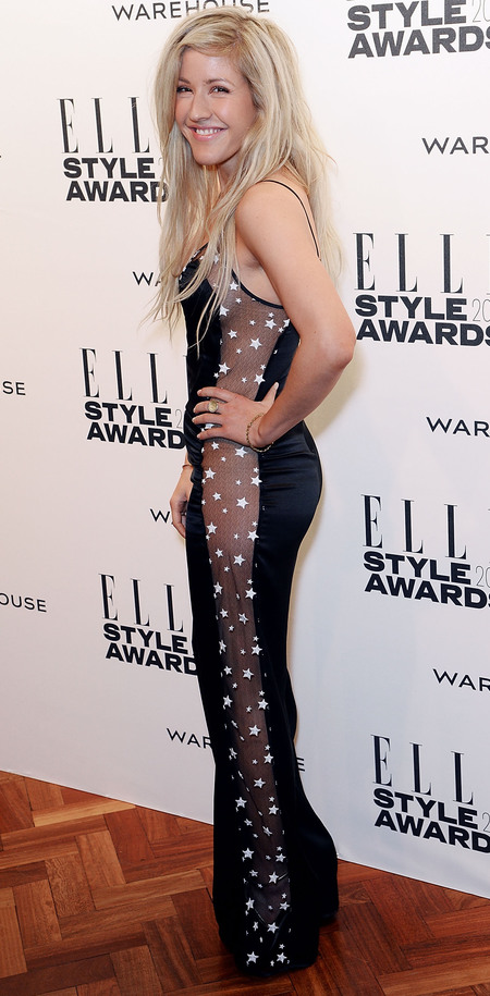 elle style awards - ellie goulding see through star print jumpsuit - celebrity fashion trends - handbag.com