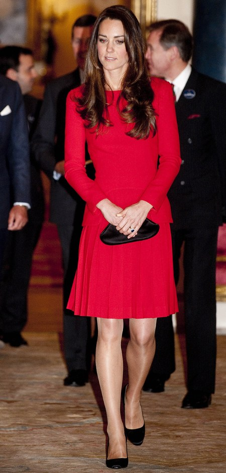Kate Middleton's red Alexander McQueen dress