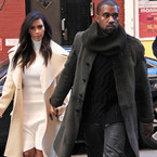 The matching outfits of Kim and Kanye