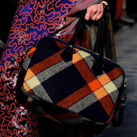 Vivienne Westwood's tartan check handbag