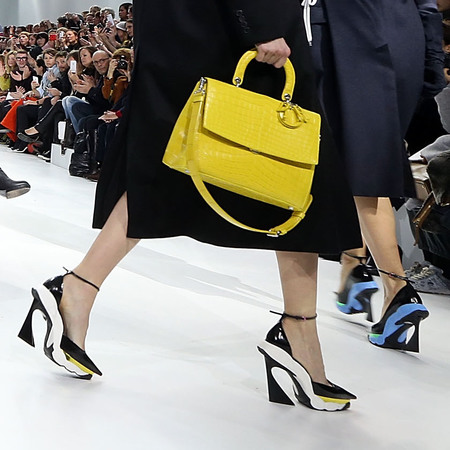Dior's bright yellow handbag
