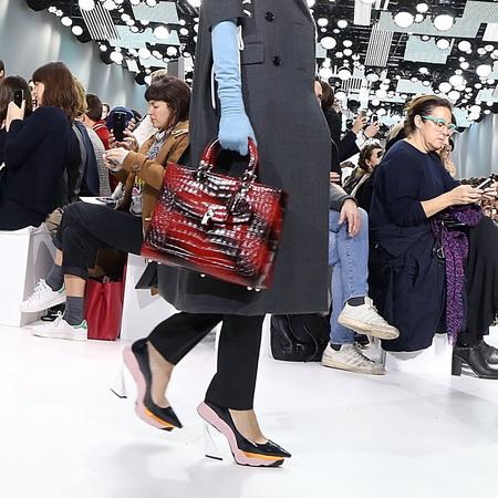 Dior's black and red snakeskin handbag