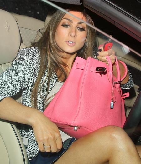 Luisa Zissman's bright pink Hermes bag