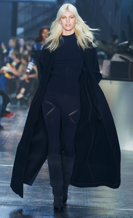 Leggings and coat at H&M's Paris Catwalk Show - Autumn Winter 2014 - high street fashion news - catwalk collections - handbag.com
