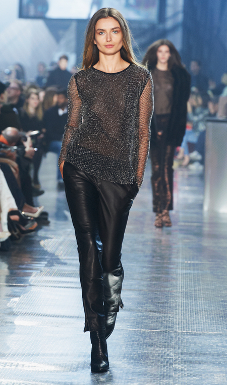 Sheer tops at H&M's Paris Catwalk Show - Autumn Winter 2014 - high street fashion news - catwalk collections - handbag.com