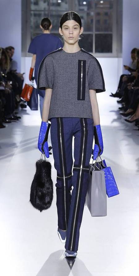New designer handbags at Balenciaga AW14 catwalk show - Paris Fashion Week - supermodels carrying bags - Alexander Wang - fashion and celebrity news - handbag.com