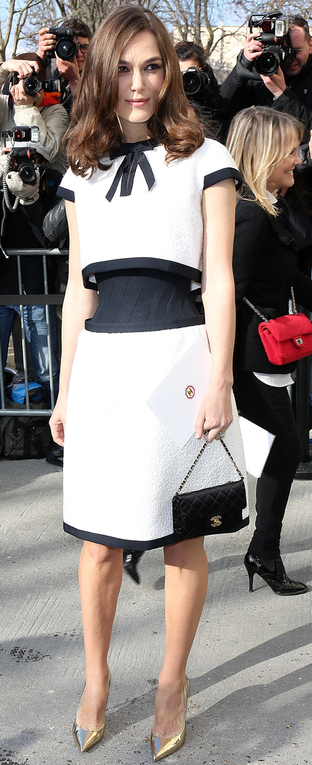 Keira Knightley's classic quilted Chanel handbag