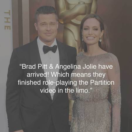 Brad Pitt and Angelina Jolie at the Oscars - funniest tweets - Oscars photos - best Oscars tweets - celebrity news - handbag.com