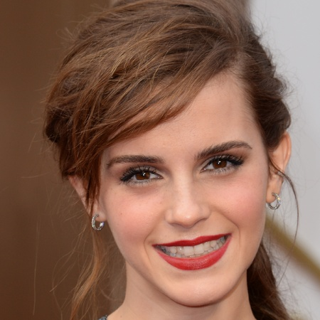 Emma Watson does statement red lipstick