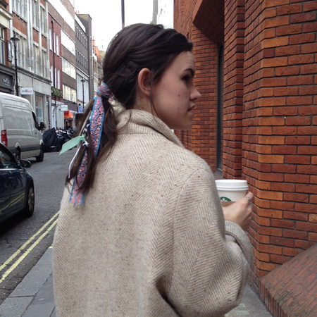 Fashion trial - cara delevingne - sam mcnight - braid chanel ponytail - on street - handbag.com