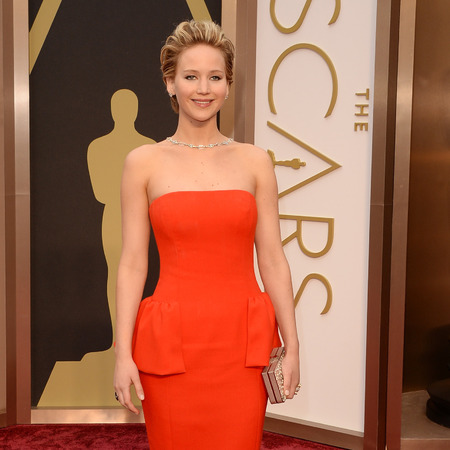 Jennifer Lawrence - Oscars 2014 red carpet fashion - celebrity fashion - red carpet dresses - fashion news - handbag.com