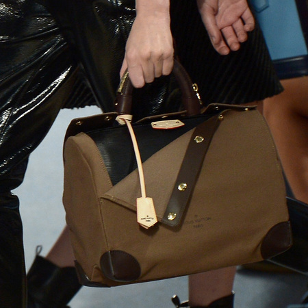 Louis Vuitton - canvas and leather bowling bag - paris fashion week - autmun/winter 2014 - handbag.com