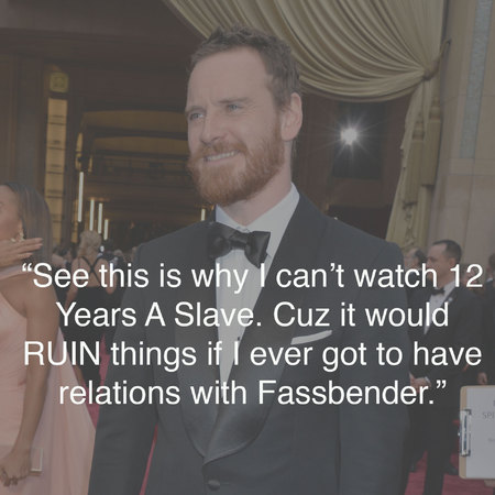 Michael Fassbender at the Oscars - funniest tweets - Oscars photos - best Oscars tweets - celebrity news - handbag.com