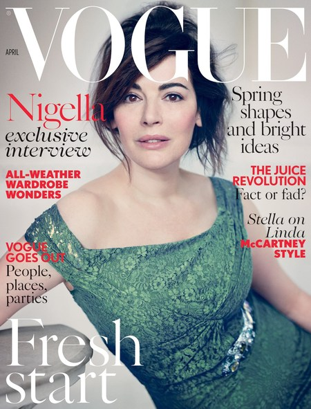 Nigella Lawson stuns on Vogue Cover wearing no makeup - natural make up - Nigella Lawson - celebrity fashion - magazine covers - news - handbag.com