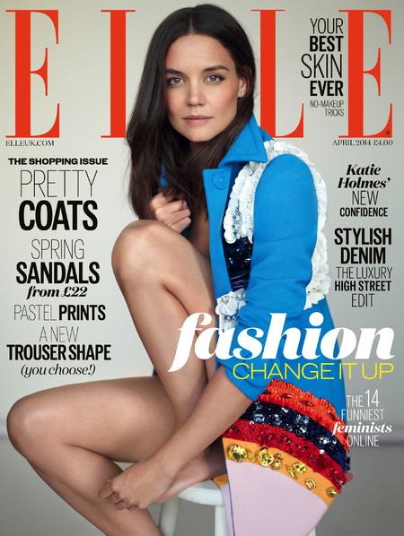 Katie Holmes for Elle Magazine cover - Katie Holmes new interview - Kate Holmes beauty - celebrity fashion news - celebrity interview - handbag.com