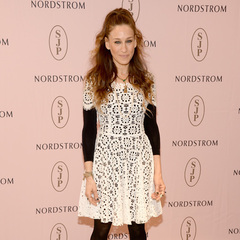 Sarah Jessica Parker - white see through dress - black underneath - shoe launch - handbag.com