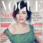 Nigella Lawson flawless on Vogue cover