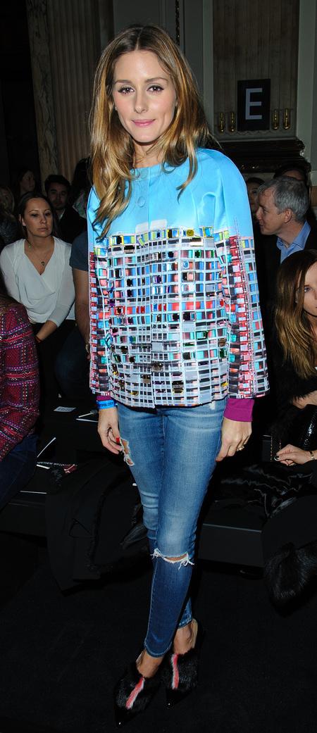 Olivia Palermo's jazzy jacket