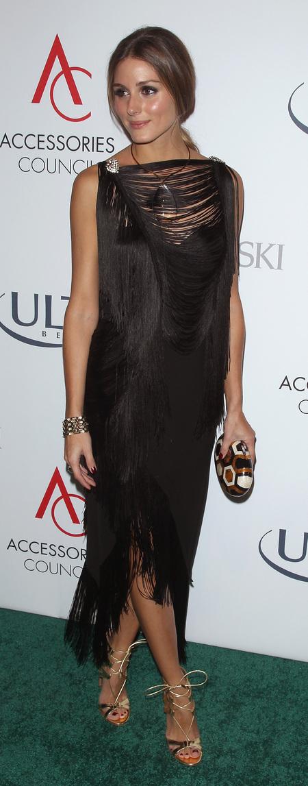 Olivia's black fringed dress