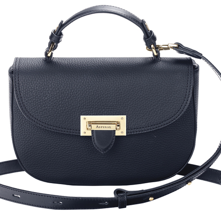 aspinal london new leather saddle bag - letterbox handbag collection - small black crossbody bag - handbag.com