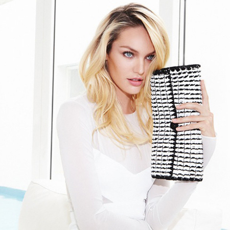 candice swanepoel victorias secret modells new handbag - bottle top bag designed by narcisco rodriguez - charity ethical handbags - handbag.com