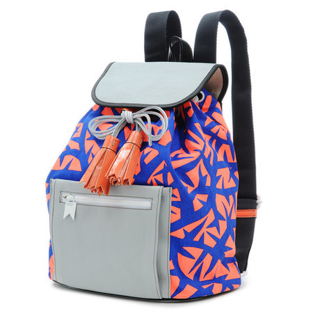 Meredith Wendell patterned backpack - Susie Yau - Susie Bubble - What's in my handbag - lifestyle - shopping bag - handbag.com