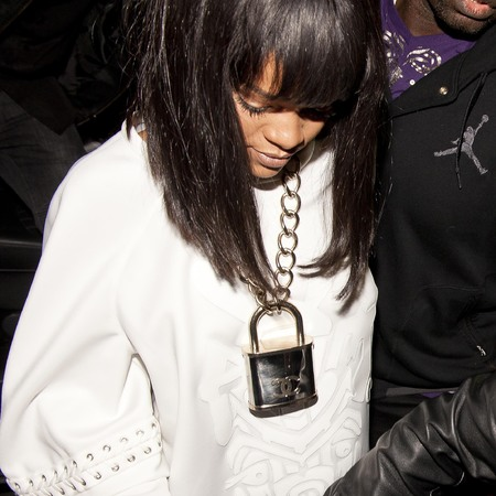 Rihanna - chanel padlock necklace - date with drake - london - handbag.com