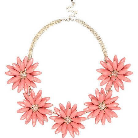 Spring accessorises to update your wardrobe - flower necklace - fashion update - shopping buys - handbag.com