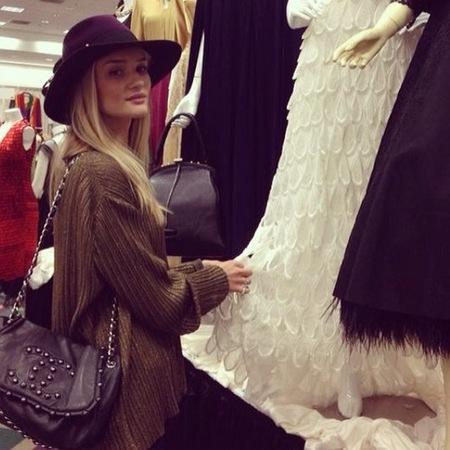 Rosie Huntington Whiteley's Chanel studded bag
