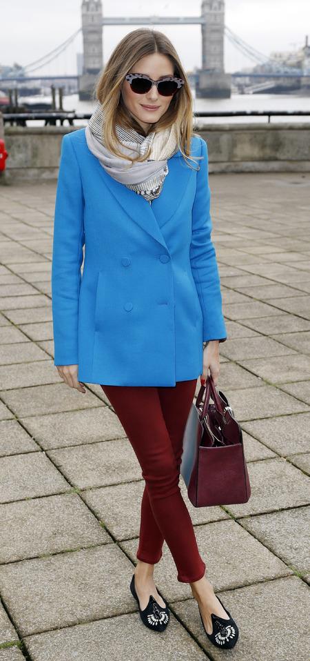 Olivia Palermo's blue tux jacket