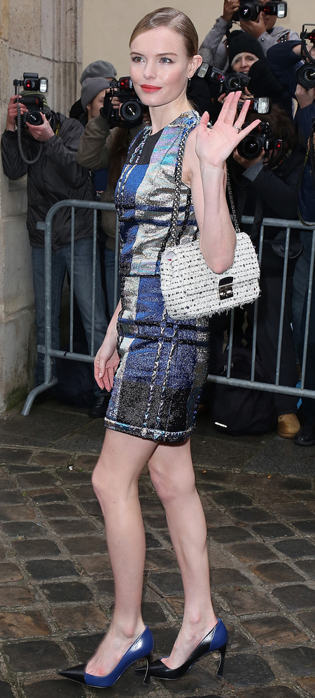 Kate Bosworth's tweed Miss Dior handbag