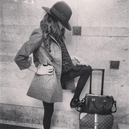 Alexa Chung's bespoke Louis Vuitton suitcase