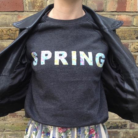 DIY Fashion fix - how to make slogan flower sweat shirt - thumbnail - handbag.com