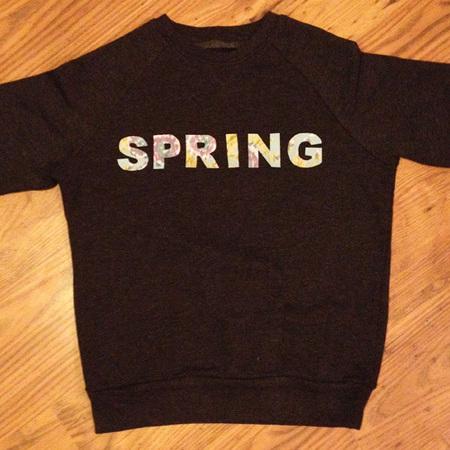 DIY Fashion fix - how to make you own slogan sweatshirt -lay out fabric letters to iron - handbag.com