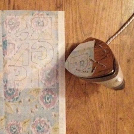 DIY FAshion Fix - how to make your own slogan flower sweatshirt - iron onto fabric - handbag.com