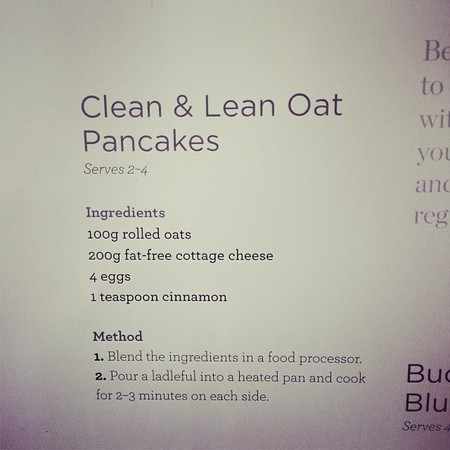 Millie Mackintosh - clean and lean pancakes - diet hangover breakfast - tasty tweet -recipe - handbag.com