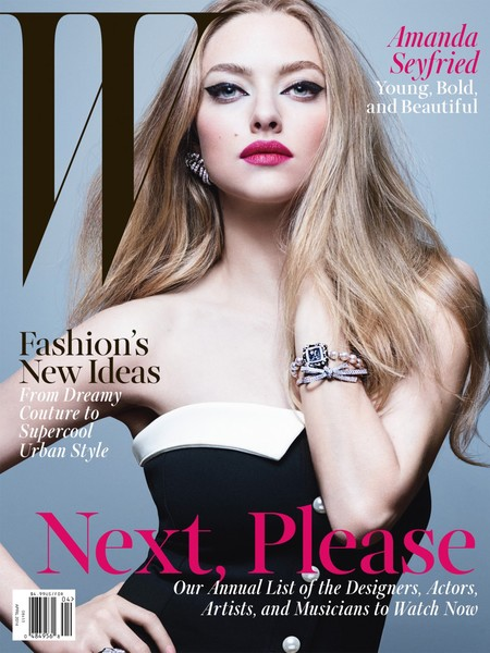 Amanda Seyfried for W Magazine - celebrity cover shoot - Cover - celebrity underwear shoot - actress - celeb and beauty news - celebrity diet and fitness - handbag.com