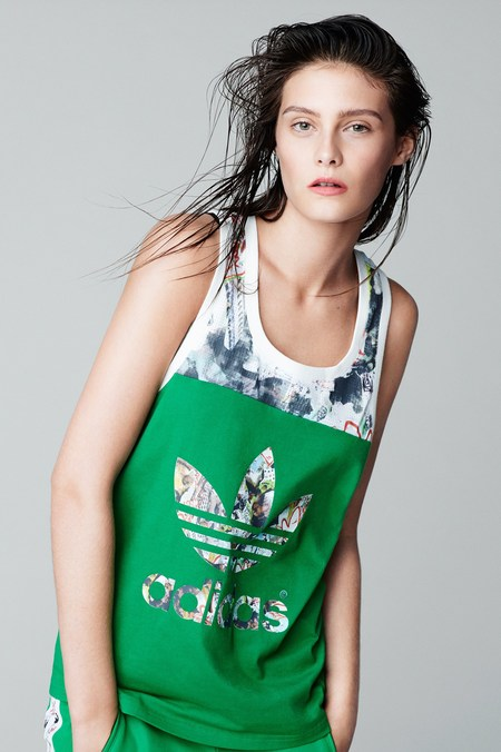 Topshop and Adidas collection launch - collection pictures - patterned track suit - fashion news - gym bag - handbag.com
