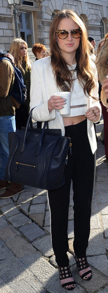 MIC's Rosie Fortescue's Celine Boston handbag