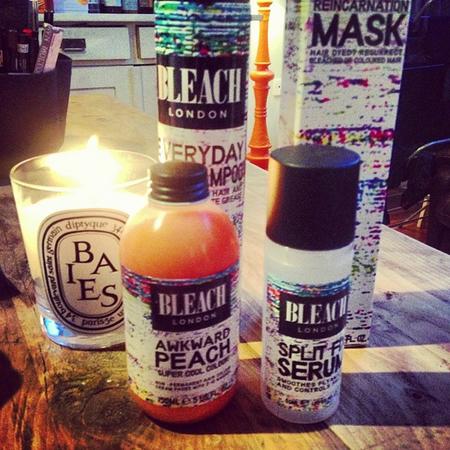 Caroline Flack's Bleach haircare