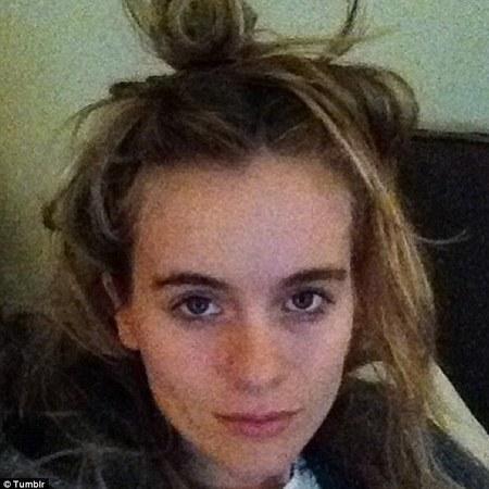 Cressida Bonas - tumblr - no makeup selfie - handbag.com
