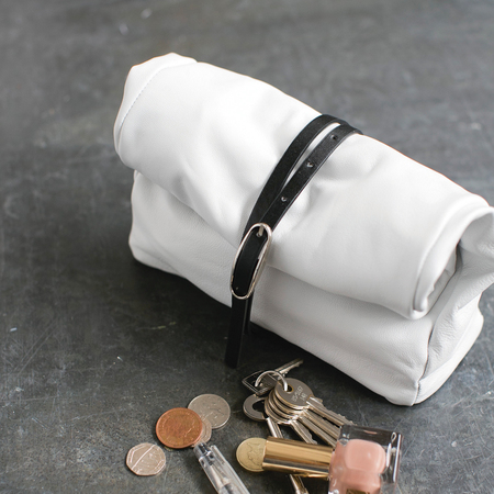 How to make a slouchy leather clutch bag - finished bag - diy fashion fix - adorn - handbag.com